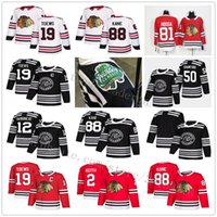 2019 Winter Classic Alex DeBrincat Jonathan Toews Patrick Kane Duncan Keith Corey Crawford Seabrook Saad Chicago Blackhawks Maglie da hockey