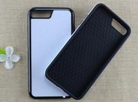 Sublimatie 2 in 1 TPU + PC Tough Dual Case voor iPhone X XS 5S 6S 7 8 Plus met aluminium inserts en lijm Gratis verzending! 100 stks / partij
