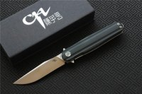 Free shipping, New CH3505- G10 Flipper folding knife D2 blade ...