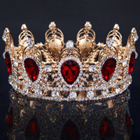 2019 New Bridal Crowns Crystal Gold Color Chic Royal Regal S...