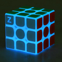 Puzzle cube 5. 7cm Noctilucous Luminous Magic Rubik Cube Game...