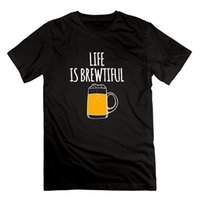 Funny Man T- Shirt - Life Is Brewtiful Beer Tees Custom Jerse...