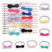 INS Baby Nylon Headbands Bunny Ear Elastic Headband Children...