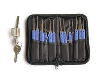 شفافة كوتاواي قفل مع كلوم 20 جهاز كمبيوتر شخصى كلوم قفل اختيار أدوات هوك قفال التدريب قفل النازع BK098