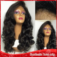 Top Quality Side Part Natural Soft Body Wave Glueless Synthe...