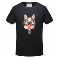 2018 New Brand Mens Designer T Shirts Fashion Embroidery Wol...