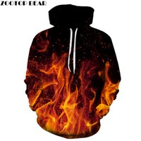Fire Printed 3D Men Women Hoodies 6XL Sweatshirts Quality Ho...