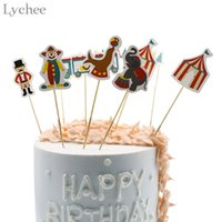 Lychee Circus Unicorn Disposable Cup Cake Topper Candy Box C...