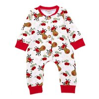 Infant Rompers Boys Girls Jumpsuit Christmas Deer Printed Co...