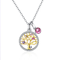 high quality Lifetree crystal pendant necklace with swarovsk...