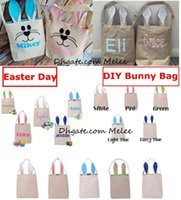 5Colors Funny Design Linen Easter Bunny Bag Ears Bags Cotton...