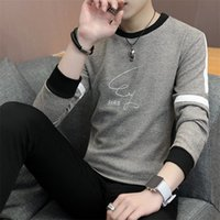 2018 Autumn New Fashion Men Sweater Long Sleeve O Neck Knitt...