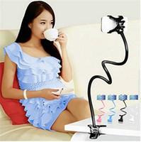 Auto-Telefon-Halter Universal-Long Arm Faule Telefon Gooseneck Stand Halter Flexible Bett Schreibtisch Tabelle Clip Halter für iphone X 8 7 samsung