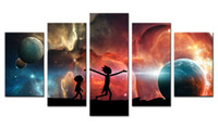 5 Piece Rick and Morty Canvas Prints Wall Art Decor Poster A...