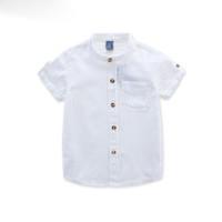 소년을위한 새로운 2018 셔츠 소년을위한 여름 아동 의류 흰 블라우스 2-3-4years 소년을위한 소년 셔츠 캐주얼 의류 10-12 년