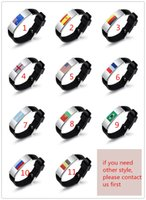 Multi national flag bracelet Personality football fans brace...