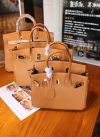 20CM 25cm 30cm 35CM Brand Totes Brown Genuine leather Cowhid...