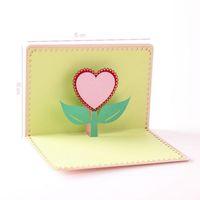 Décoration de fête cartes de voeux avec enveloppe 3D coeur élégant mariage anniversaire Invitation Merci carte livraison gratuite