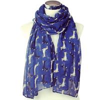 6ae839175561 Nouvelle Arrive. Teckels foulards bleu saucisse femmes écharpes costumes  accessoires