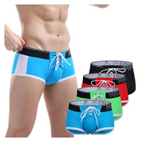 Boxer Swimsuit Gay Plus Size XL Men Hot Breathable Trunks Ma...