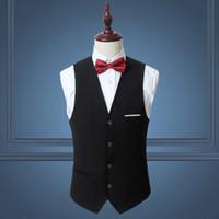 Erkek Yelek Tasarım Masculino Kolsuz Takım Elbise Yelek Vintage Stil Jile V Yaka Boyunlu Sıcak Satış Slim Fit Beyaz Düğün Yelekler 6XL