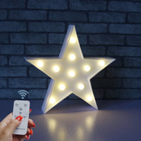 LED Marquee Light Star Shaped LED plastique Sign-Lighted Marquee Décoration murale Signe des piles (Blanc)