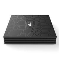 T9 안드로이드 9.0 TV 박스 RockChip RK3318 쿼드 코어 4GB 32GB 2.4G 5G WIFI BT4 1080P 4K 세트 탑
