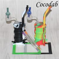 Rauchen Wasserrohre mit thermischen Quarz banger Nägel Ball Kappen 120mm Tupfen Werkzeug 14 * 11,5 cm Silikon Wachs Matten Silikonöl Rigs Rohre