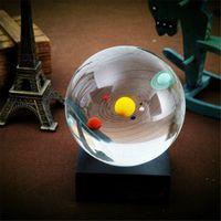 الكريستال والزجاج النظام الشمسي ثمانية كائنات الكرة الإبداعية الكوارتز بلورات المجال تررم مكتب الحلي بحري ديكور المنزل