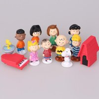 Snoopy Dolls 12pcs a set Cake decoration Anime Action Figure...