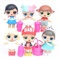 Hot sell 8CM Doll with feeding bottle American PVC Kawaii Ch...