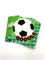 20 teile / los football servietten kinder geburtstag hochzeit liefert fußball papierservietten happy birthday party supplies