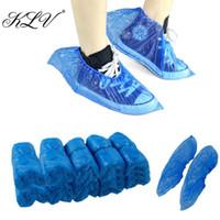 KLV 100Pcs impermeável Boot Covers plástico descartável Shoe Covers Overshoes