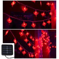 20 leds Güneş Enerjili Çince Düğüm Işık LED Dize Festivali Noel Dekorasyon için LED Flaş Işığı Gece Lambası
