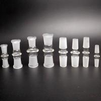 Adaptador Tazón cachimba estándar 10-10mm 14-14mm masculino masculino 18-18mm 14-18mm adaptador macho de cristal Mujer para la plataforma de cristal del tubo de agua Bong Petróleo