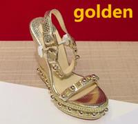 2018 nuovo popolare estate signore di lusso in tela stile gladiatore tacchi argento dorato borchie donna sandalo partito sexy scarpe da donna di moda