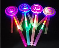 2018 dzieci LED Light-Up Lollipop Glow Sticks Girls Princess Miga Fairy Wand Sticks Party Dress Christmas Navidad Nowy Rok