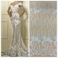 African White Lace Fabric Lace Applique High Quality Tulle L...