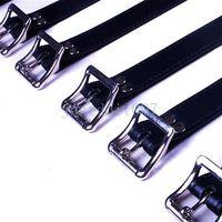 7 unids Set Bondage Bandage Bloqueable Cinturón de cuero esclavo Cuerpo completo Arnés Correa Mancha de restricción # R56