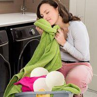 6 stücke Wollwäschekugeln für Trockner Waschmaschine Premium Wolltrocknerkugeln Wiederverwendbare Naturstoff Weichmacher 6cm Freies Verschiffen