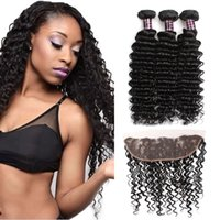 Ishow Human Hair Bundles With Closure Wholesale Cheap 8A Bra...