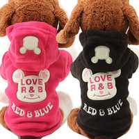 New Fleece Puppy Dog Coat Cat Pet Clothes Cute Bear Costume ...