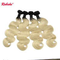 Brazilian Body Wave Ombre Human Hair Weave Bundles T1B 613 W...