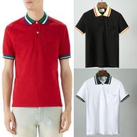 Rouge Noir Blanc Polo Shirt Homme 100% Coton Top Homme Col Rond Manches Courtes Coupe Homme