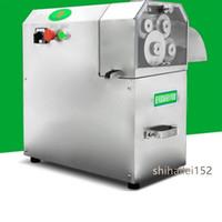 Neue elektrische Edelstahl Tischplatte Zuckerrohr Ingwer Ingwer süße Sorghum Presse 4 Achsen Entsafter Zuckerrohr Schälmaschine