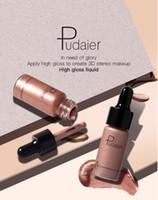 Fábrica derict dhl frete grátis 12 cores highlighter maquiagem corretivo aplicar alto brilho para criar 3D maquiagem estéreo de alto brilho líquido