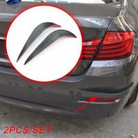 2X Universal Auto Accessoires de carrosserie anticollision Bar Pare-chocs à lèvres anti-frottement Collision Accident Garde bord latéral Protéger la bande Trims