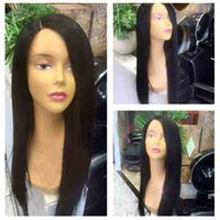 Side Part Silky Straight Virgin Human Hair Wig 130% Density ...