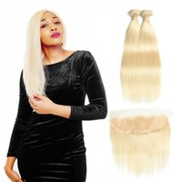 Malaysian Straight Hair Bundles With Lace Frontal Closure 61...