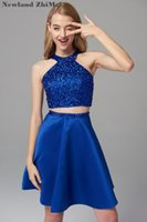Royal Blue Short Homecoming Dress Cusotm Made New Arrival Sp...